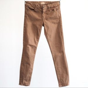 MOTHER || tan skinny jeans size 27